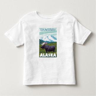 Escena de los alces - Skagway, Alaska Playeras