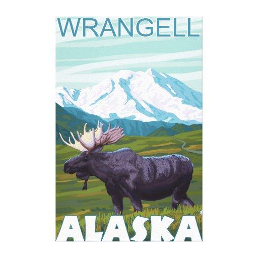 Escena de los alces - Wrangell, Alaska Impresiones De Lienzo
