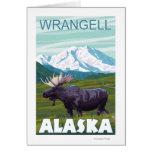 Escena de los alces - Wrangell, Alaska Tarjeta De Felicitación
