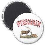 Escena de los ciervos de Wisconsin Imanes De Nevera