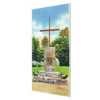 Escena de Marquis de Montcalm Monument Impresiones En Lienzo Estiradas