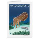Escena de MassachusettsCuttlefish Tarjeta De Felicitación