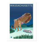 Escena de MassachusettsCuttlefish Tarjetas Postales