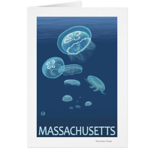Escena de MassachusettsJellyfish Tarjeta De Felicitación