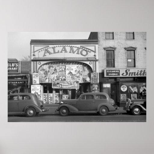 Escena de Minneapolis Streeet, los años 30 Poster