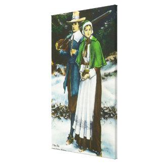 Escena de Priscilla y de Juan Alden Lona Envuelta Para Galerías