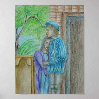 Escena de Romeo y de Juliet Posters