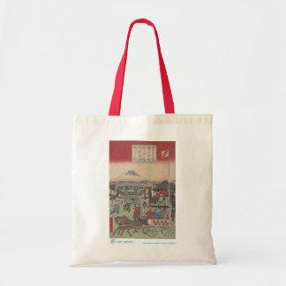 Escena de Tokio con la bolsa de asas del monte Fuj