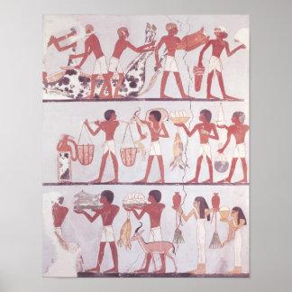 Escena de traer de los carniceros y de los criados póster