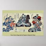 Escena de un juego de Soga por Utagawa, Kuniyoshi  Impresiones