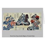 Escena de un juego de Soga por Utagawa, Kuniyoshi  Tarjeton