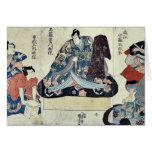 Escena de un juego de Soga por Utagawa, Kuniyoshi  Felicitación