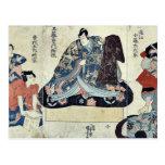 Escena de un juego de Soga por Utagawa, Kuniyoshi  Postales