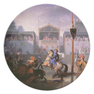 Escena de un torneo en el siglo XIV, 1 Plato Para Fiesta