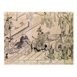 Escena de una danza sagrada tarjeta postal