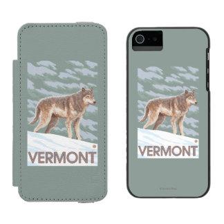 Escena de VermontWolf Funda Cartera Para iPhone 5 Watson