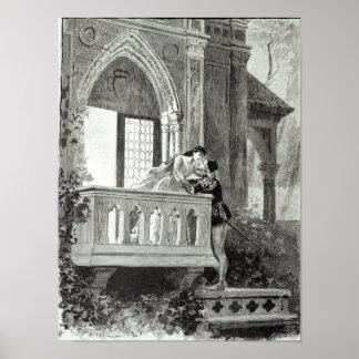 Escena del acto II de Romeo y de Juliet Póster