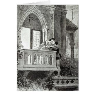 Escena del acto II de Romeo y de Juliet Tarjeta De Felicitación