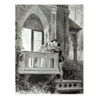 Escena del acto II de Romeo y de Juliet Tarjetas Postales