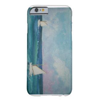 Escena del agua con los barcos funda de iPhone 6 barely there