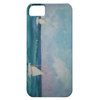Escena del agua con los barcos iPhone 5 Case-Mate funda