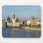 Escena del agua de Praga Mousepad Alfombrillas De Ratones