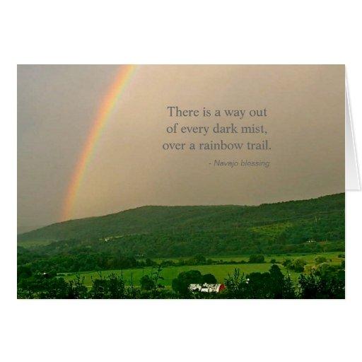 Escena del arco iris y el decir inspirados de Nava Tarjeta De Felicitación