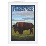 Escena del bisonte - parque nacional de Yellowston Tarjeta De Felicitación