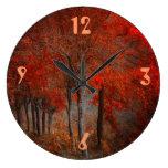 Escena del bosque del vintage relojes de pared
