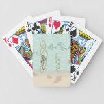 Escena del caballo de mar baraja cartas de poker