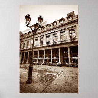 Escena del café de París (iii) Póster