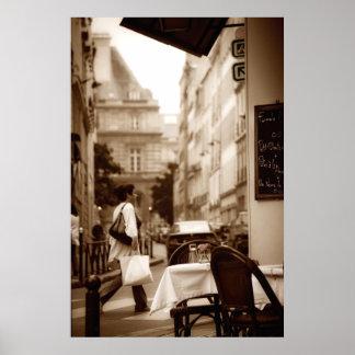 Escena del café de París (v) Póster