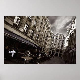 Escena del café de París (vi) Póster
