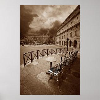 Escena del café de París (vii) Póster