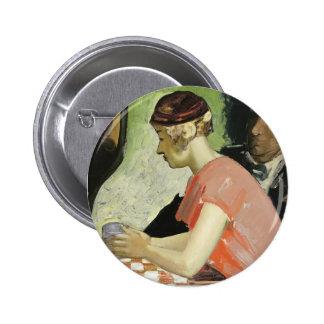 Escena del café (estudio de la mujer joven) por Ge Pins