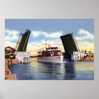 Escena del canal de Delray Beach la Florida Posters