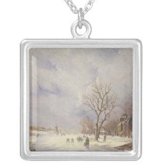 Escena del canal del invierno, siglo XIX Grimpolas Personalizadas