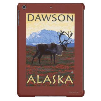Escena del caribú - Dawson, Alaska Funda Para iPad Air