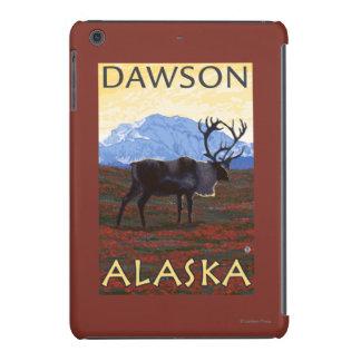 Escena del caribú - Dawson, Alaska Funda Para iPad Mini Retina