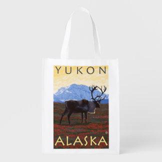 Escena del caribú - el Yukón, Alaska Bolsa De La Compra