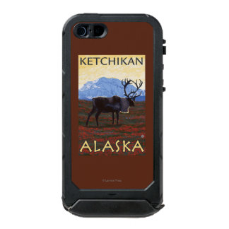 Escena del caribú - Ketchikan, Alaska Funda Para iPhone 5 Incipio ATLAS ID