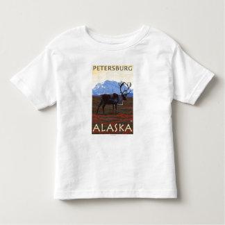 Escena del caribú - Petersburgo, Alaska Camisas