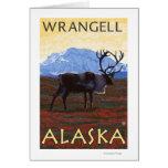 Escena del caribú - Wrangell, Alaska Felicitación