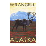 Escena del caribú - Wrangell, Alaska Lienzo Envuelto Para Galerias
