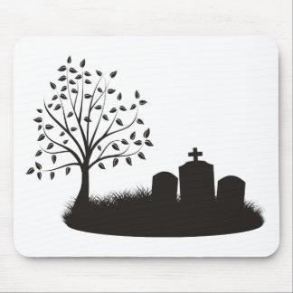 Escena del cementerio mousepad