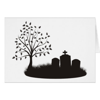 Escena del cementerio tarjeta de felicitación