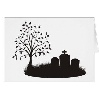 Escena del cementerio tarjeta pequeña