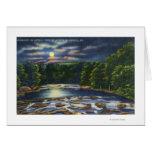 Escena del claro de luna en la cala de Catskill Tarjeta De Felicitación