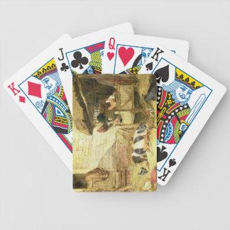 Escena del corral barajas de cartas