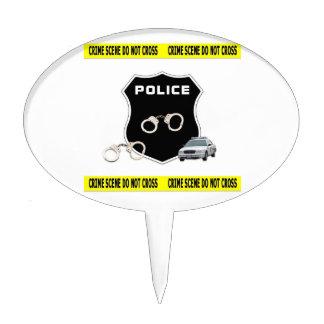 Escena del crimen de la policía palillos de tarta